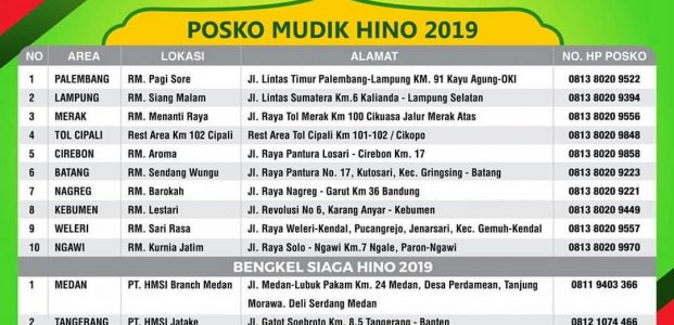 Posko Mudik Hino 2019